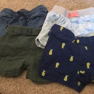 4 pairs of kids shorts